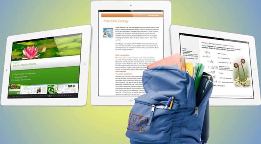 Apple lanserer verktøy for å lage interaktive lærebøker til iPad. Er det tenkelig at norsk skole legger om sine læremidler til dette lukkede og private universet?