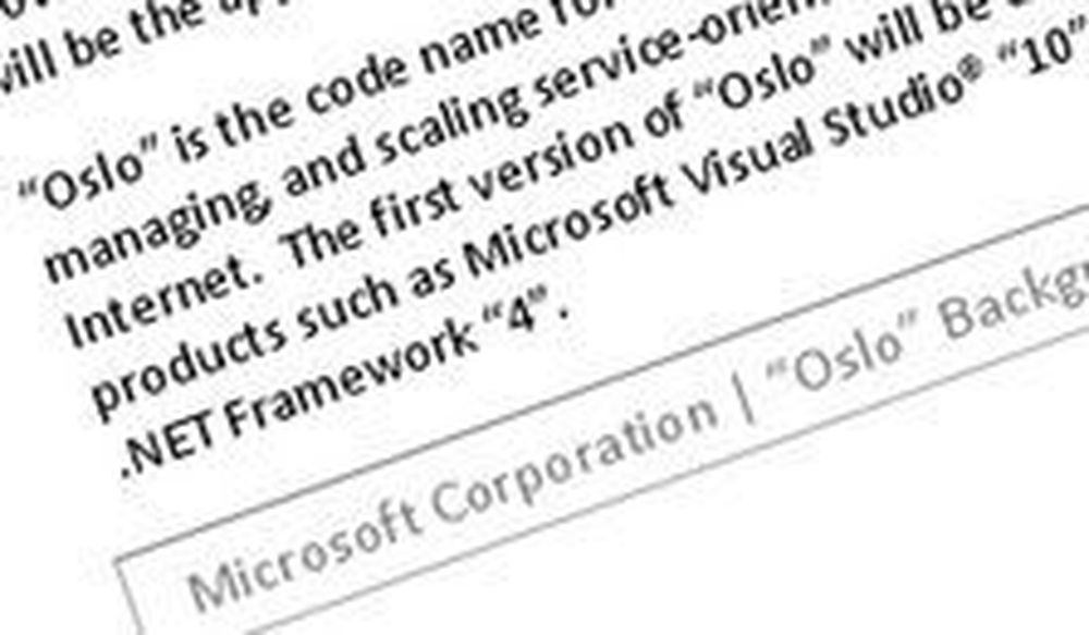 Microsoft lanserer «kodenavn Oslo»