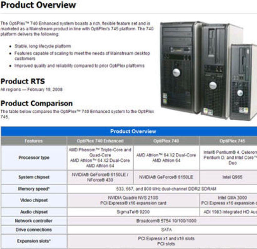 Trekjernet AMD-prosessor i ny Dell-PC