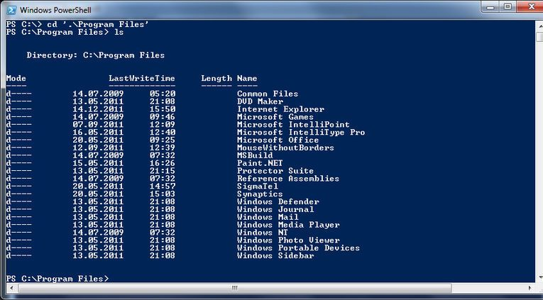 Windows PowerShell blir det grunnleggende grensesnittet til Windows Server 8.