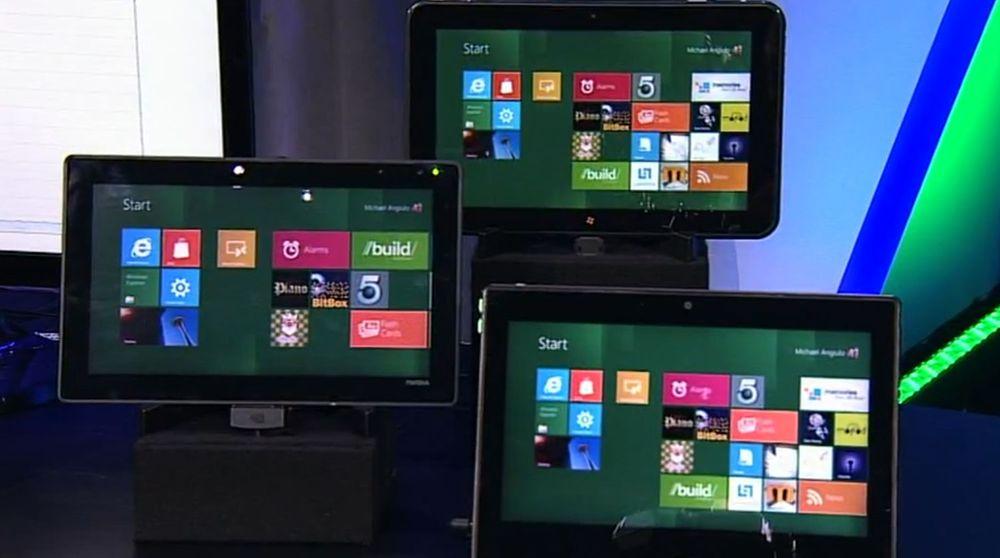 Prototyper av nettbrett med tidlig versjon av Windows 8.