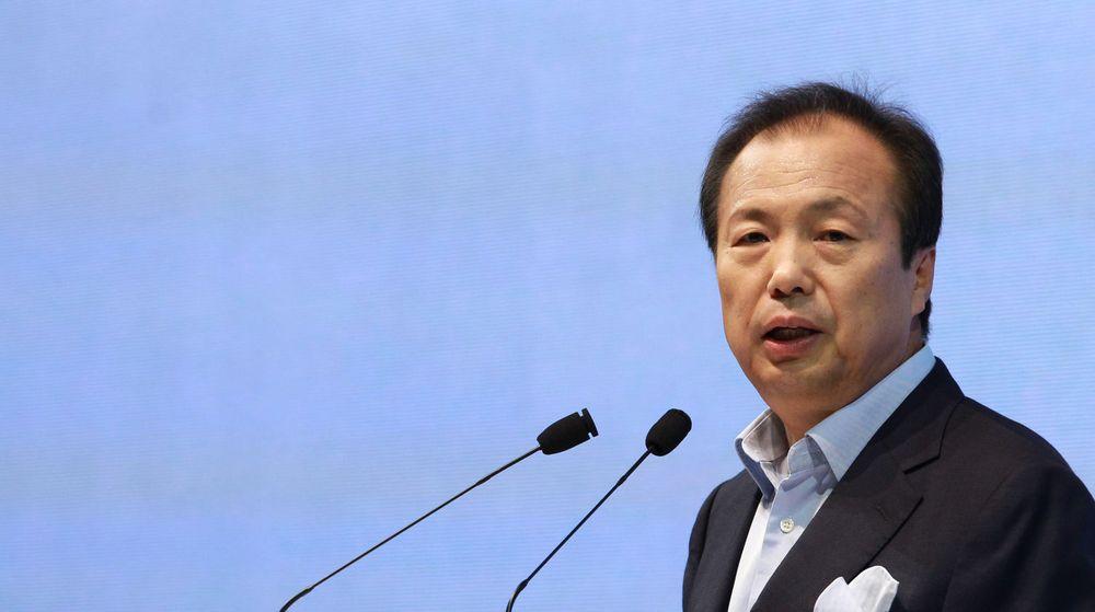 Samsung, her representert ved divisjonsdirektør J.K. Shin, slåss hardt for å beholde ledelsen som verdens dominerende leverandør av smarttelefoner. Om rett over to uker lanserer selskapet sitt neste flaggskip i direkte konkurranse med Apples iPhone.