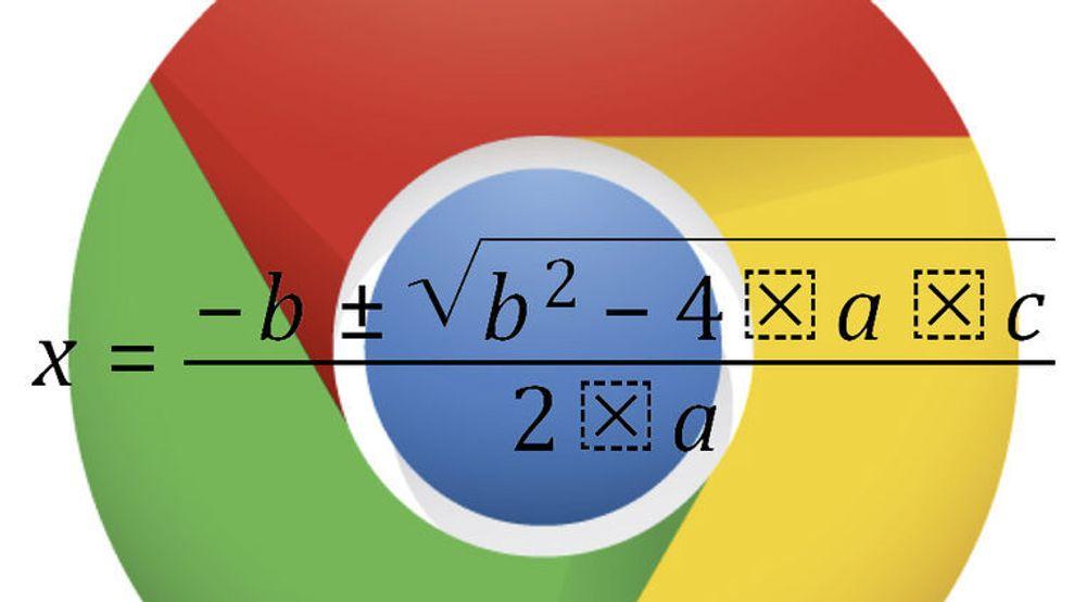 Muligheten til å vise matematiske uttrykk beskrevet med MathML har blitt deaktivert igjen i Google Chrome av sikkerhetsårsaker.