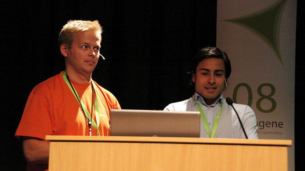 Karl Philip Lund fra IXD og Ricky Sookermany fra kursarrangøren Confex har lykkes med e-postmarkedsføring.