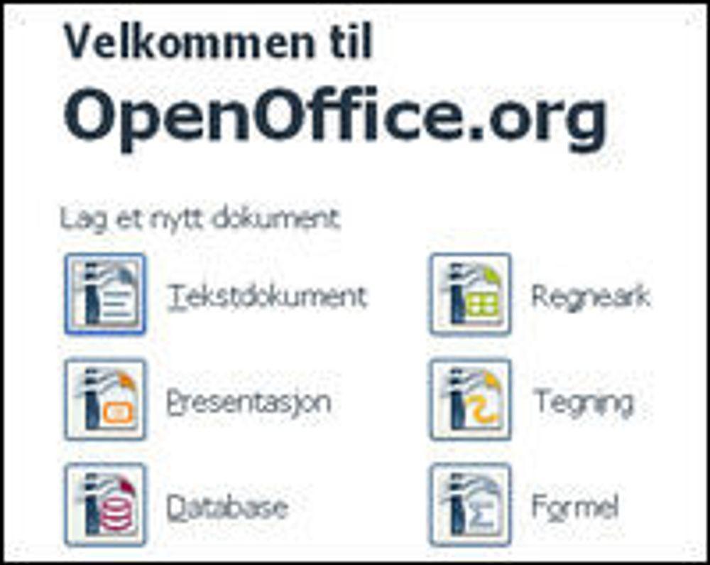 Start Center i OpenOffice.org 3.0.