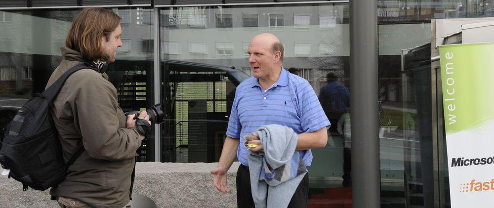 Det er fem år siden Microsoft-sjef Steve Ballmer var på offisielt besøk i Norge, men digi.no fikk et intervju med ham da han var på et hemmelig besøk hos nyervervede Fast i april i år.