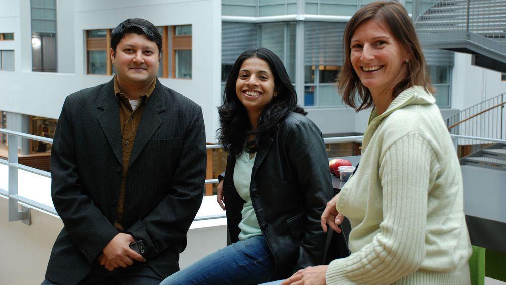 De utenlandske IT-ekspertene synes Norge er eksotisk. F.v.Karthik Jayaraman, Deepthi Shankar og Anja Warich