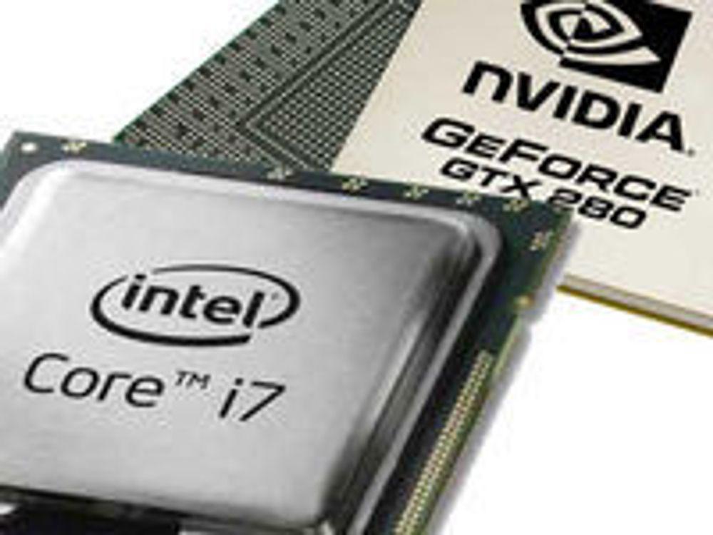 Intel Core i7 og Nvidia GeForce GTX 280 er prosesseringsenhetene som omtales i Intels rapport.