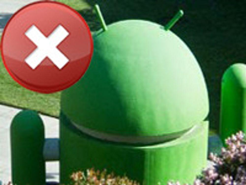 Google fjernsletter Android-innhold