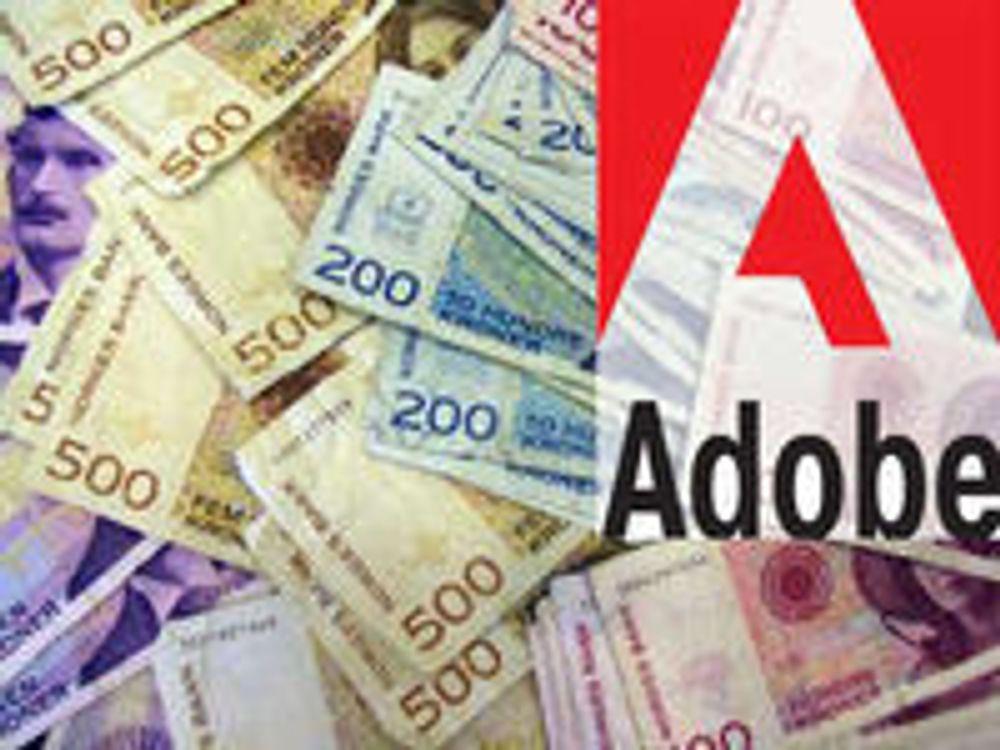 Kraftig økt omsetning i Adobe