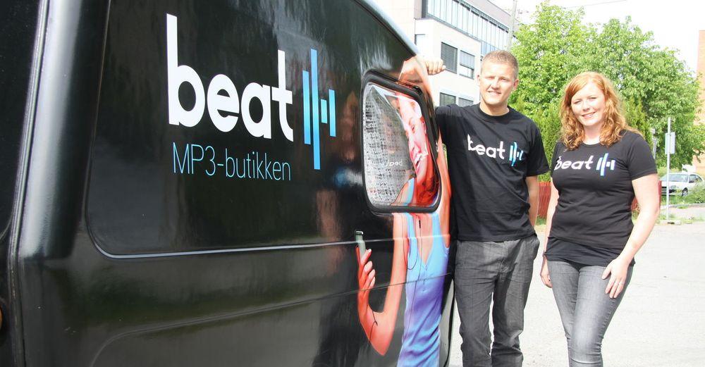 HTML5 er plattformen for den nye streamingtjenesten til Beat. Her representert ved to av gründerne, Simen og Linn Dyveke Wilberg.