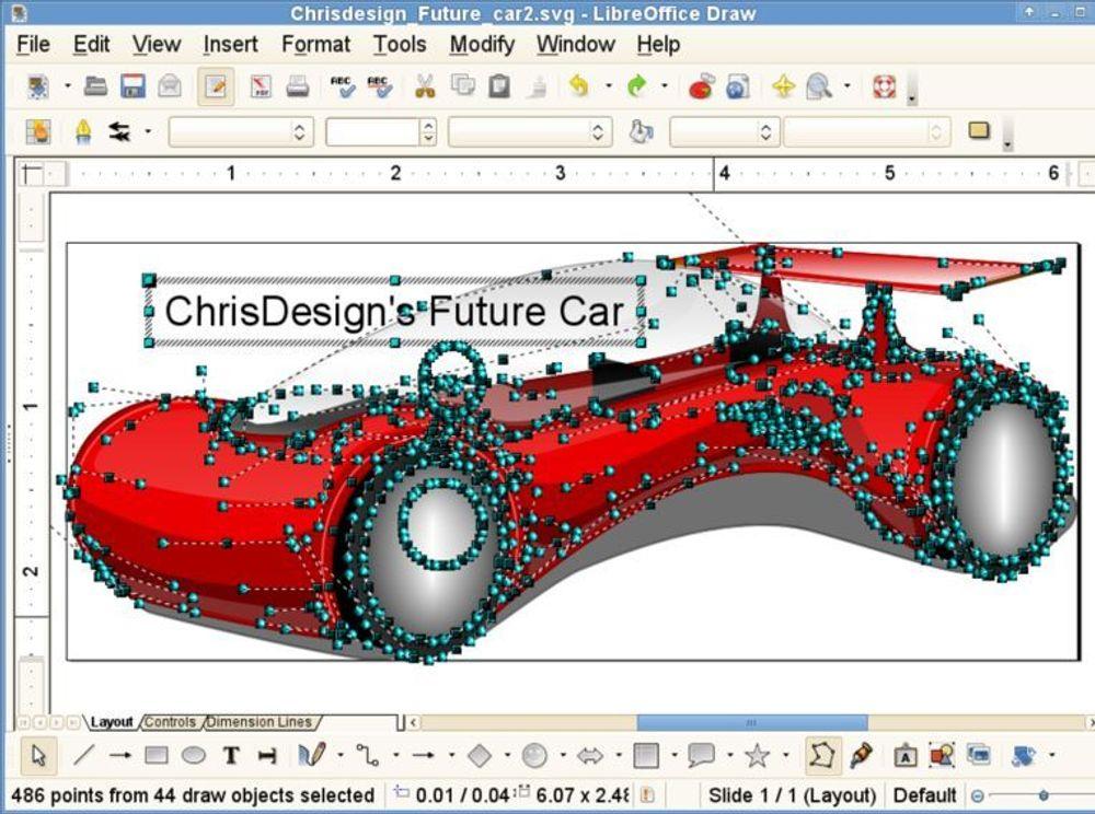 SVG-redigering er blant nyhetene i LibreOffice 3.3.