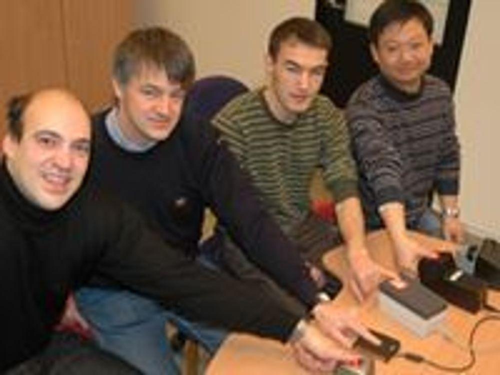 Bilde f.v: Patrick Bours, Christoph Busch, Davrondzhon Gafurov og Bian Yang.