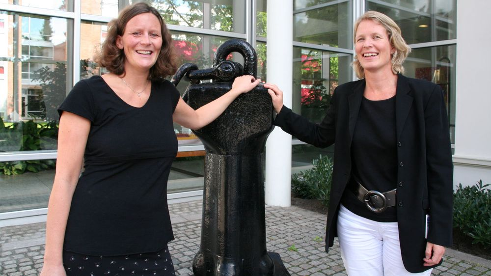 Vibeke Fantoft (f.v) og Cecilie B. Heuch i Det Norske Veritas.