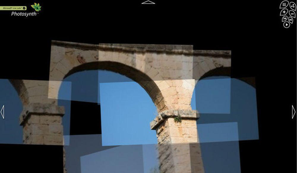 Akvadukt gjengitt i Microsoft Photosynth