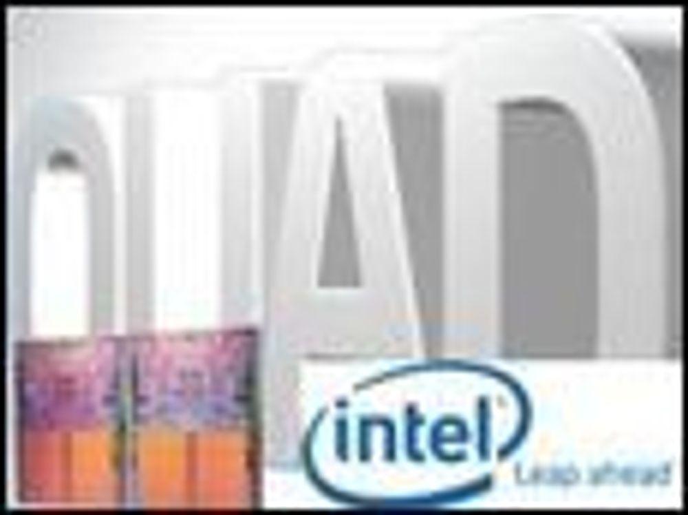 Intel først med fire kjerner til bærbare