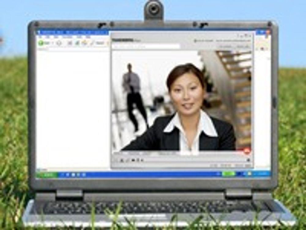 Viser videokonferanse i HD på «Quad»-bærbare