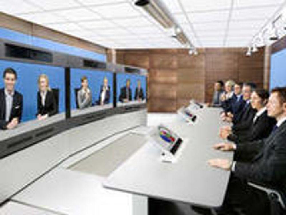 Tandberg T3, en løsning for «telepresence» eller «teletilstedeværelse».