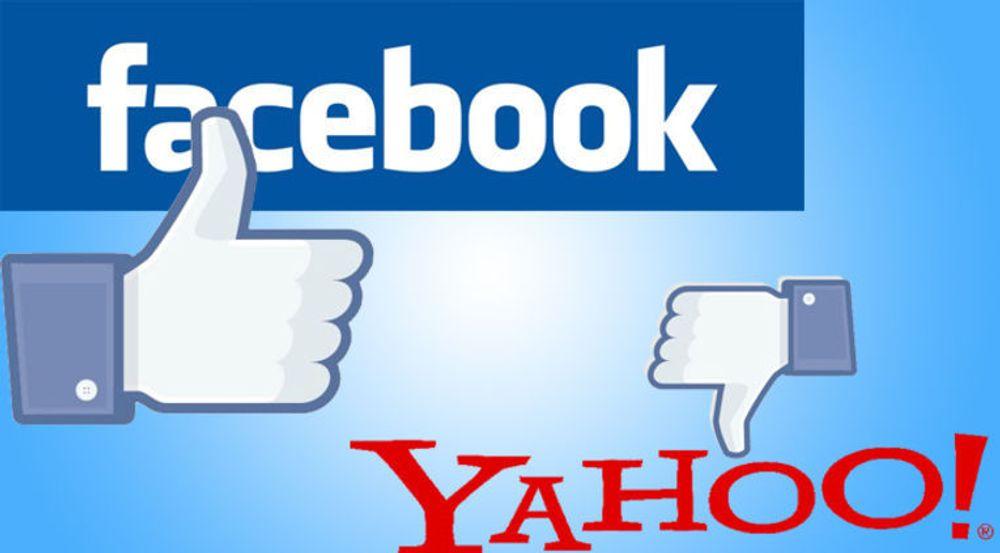 Innen bannerannonser i USA er utviklingen klar: Facebook øker, Yahoo står stille.