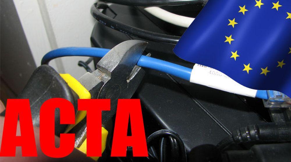 EU-kommisjonen hevder at ACTA ikke lenger medfører at personer kan bli fratatt internettilgangen. Men motstanderne av avtalen er av en annen mening.