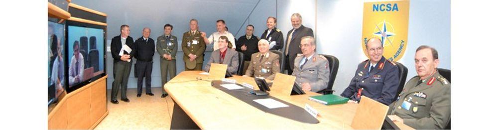 NCSA (Nato Communications and Information Systems Services) har innredet flere rom for «telepresence» med utstyr fra Polycom.