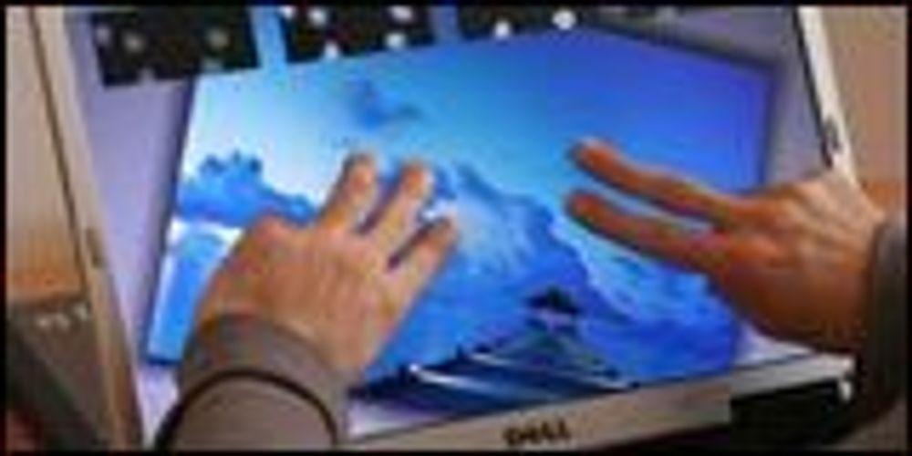 Lager PC-skjerm med multitouch-støtte