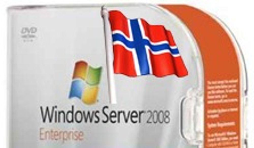 Windows 2008 Server klar for Norge