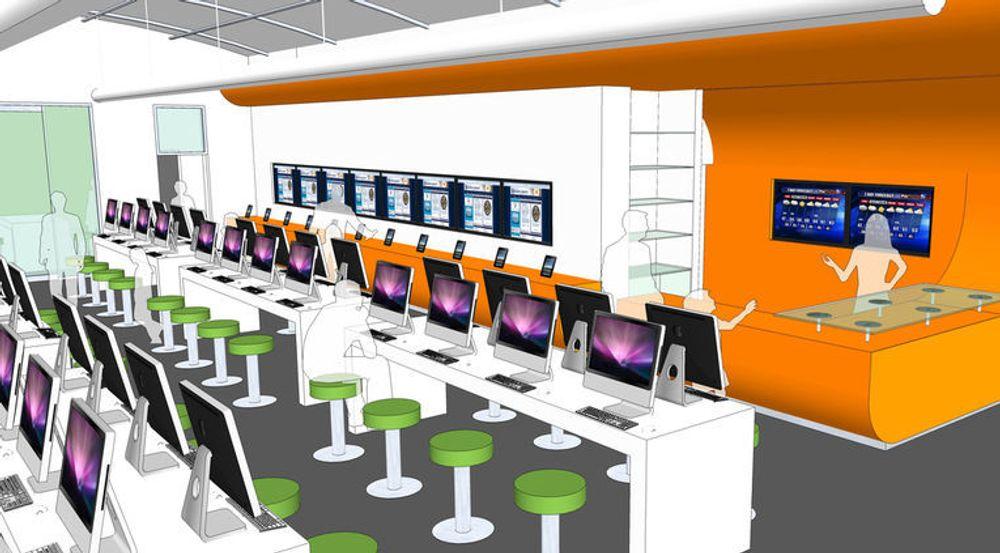 Bexar County har brukt Apple-butikker som modell for den planlagte innredningen av sitt heldigitale bibliotek.