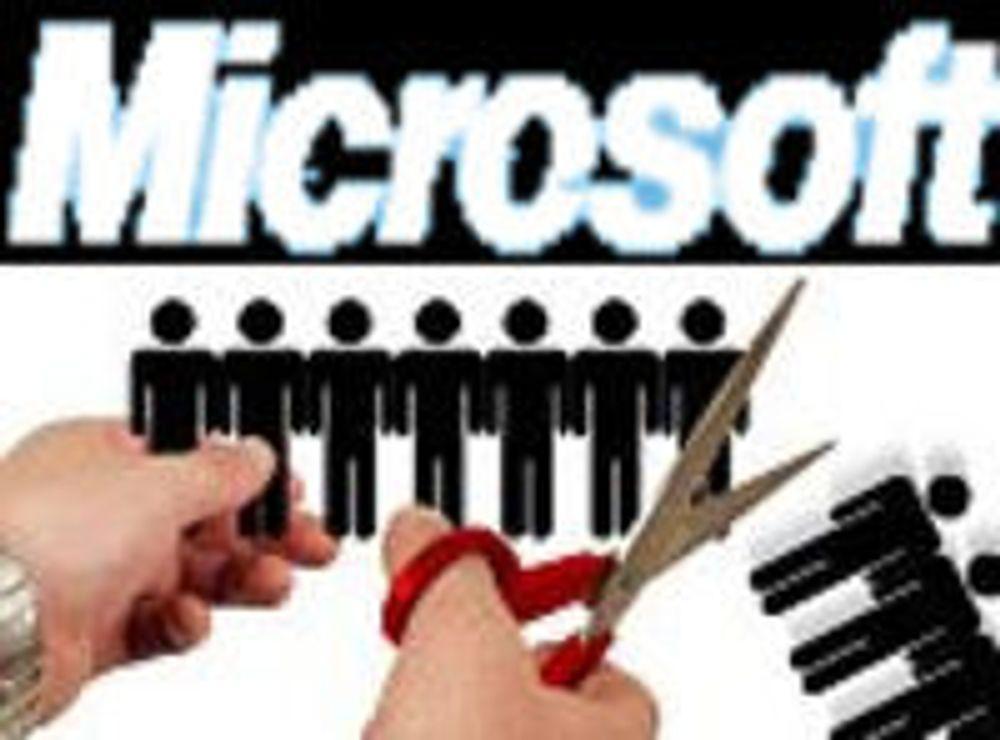 Nye kutt i Microsoft