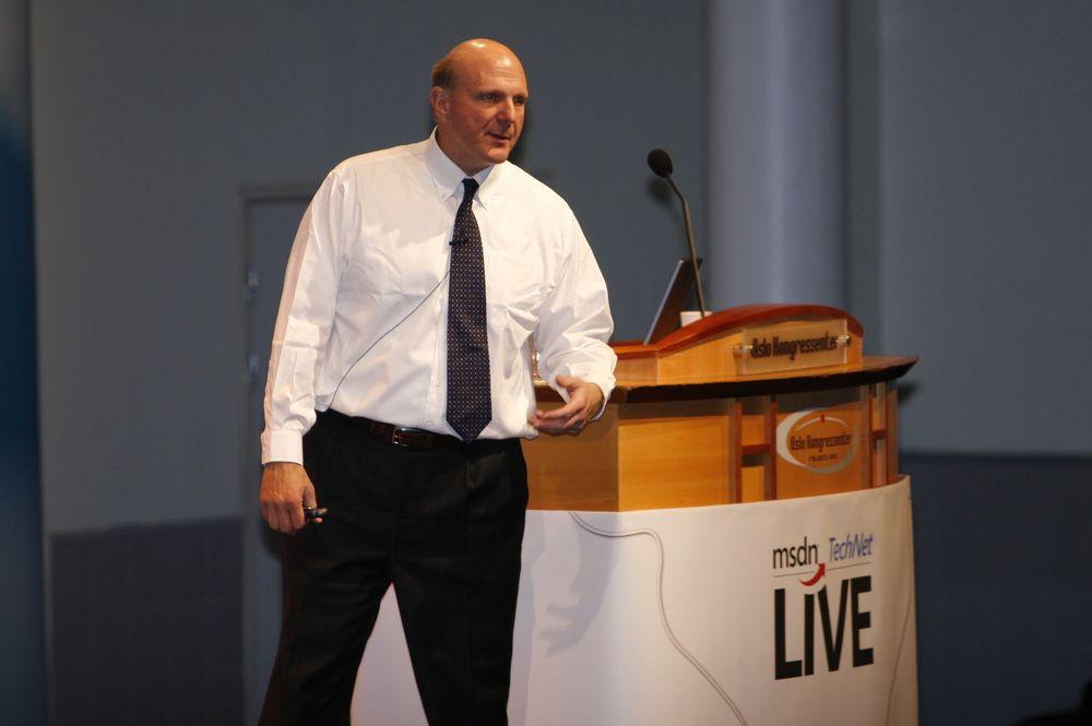 Microsoft-sjef Steve Ballmer holdt åpningstalen på MSDN Live-konferansen for cirka 1.200 norske utviklere.