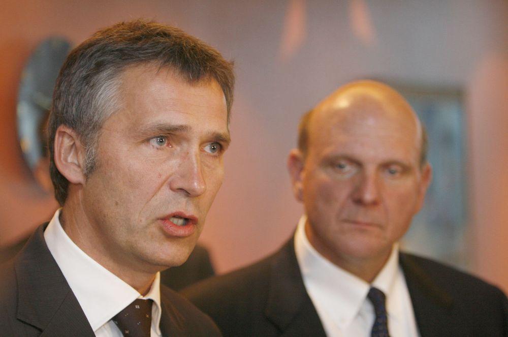 Statsminister Jens Stoltenberg fikk en gjennomgang av Microsofts søkeplaner av Steve Ballmer.