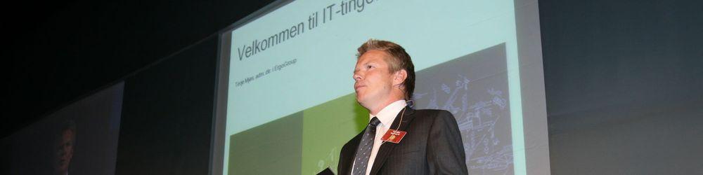 ErgoGroup-sjef Terje Mjøs kunngjorde i dag de har sikret seg et indisk IT-selskap.