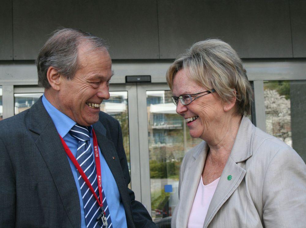 Willy Jensen og og Magnhild Meltveit Kleppa.
