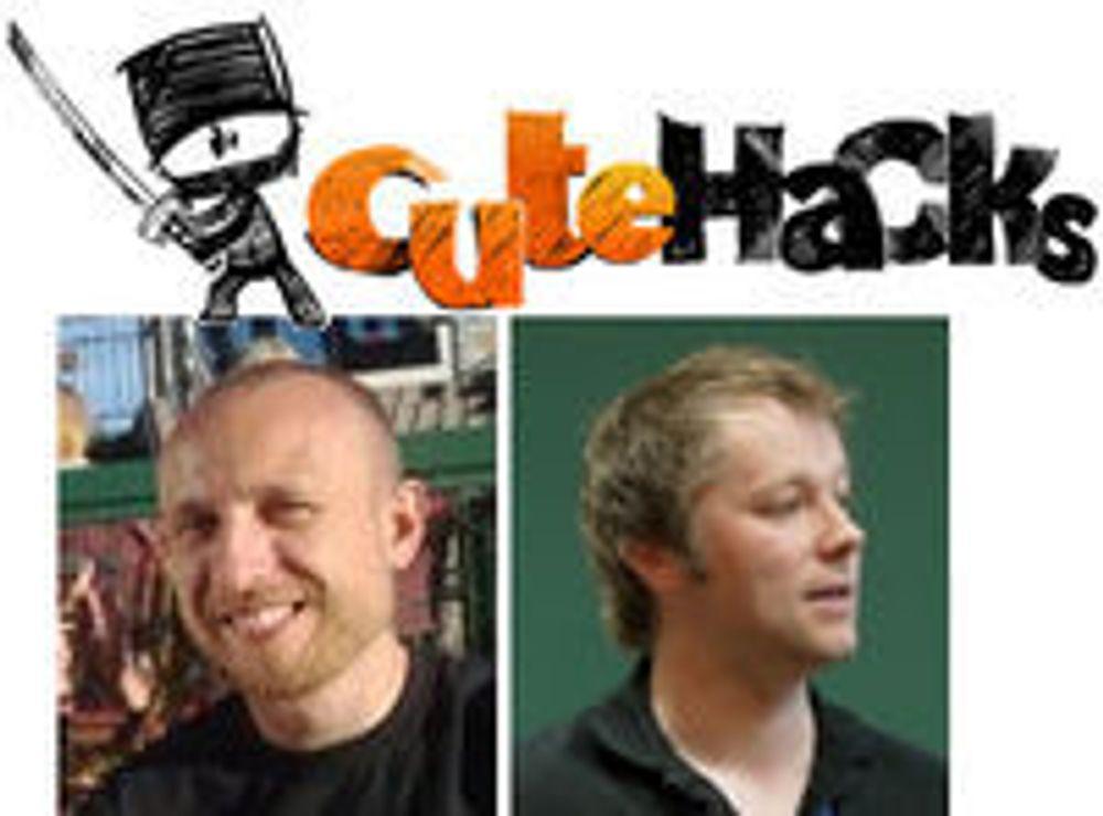 Qt-ekspertene Cutehacks lager Wimp til Nokia. (fra v.) Marius Bugge Monsen og Espen Riskedal.