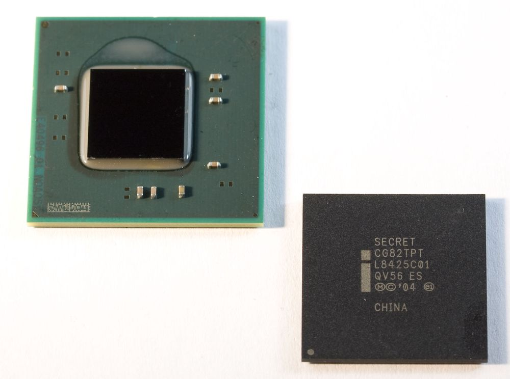 Tokjernede Intel Atom-prosessorer for Pine Trail-plattformen.