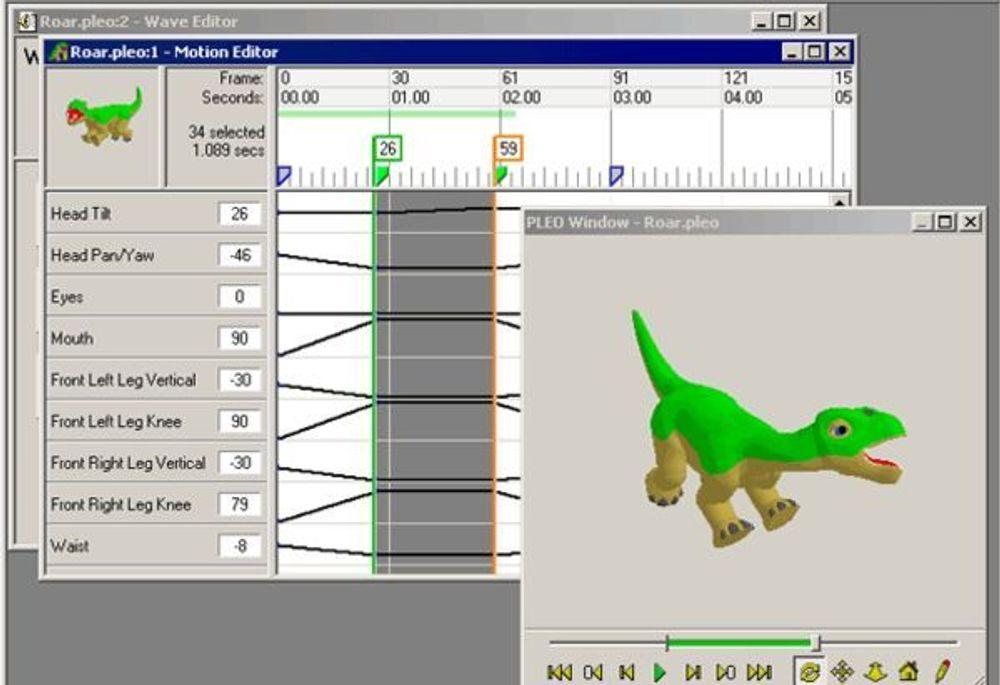 Pleo kan utvikles ved hjelp av egne verktøy eller skripts.