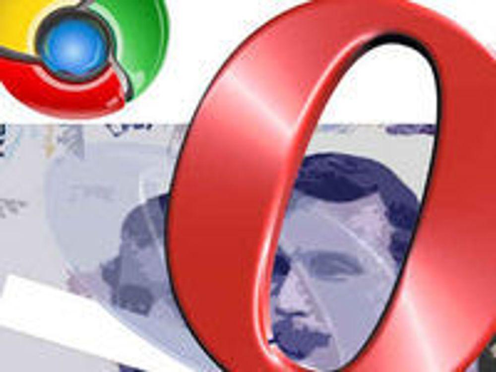 Chrome gir børsnedgang for Opera