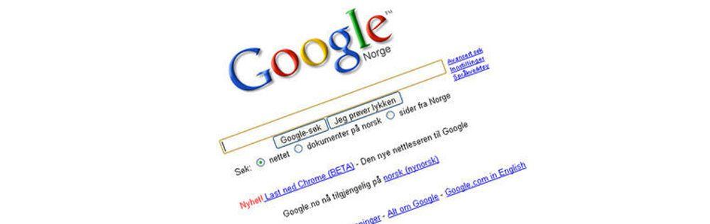 Enorm markedsføringseffekt: ingen annen nettleser har fått lenke fra Googles forside tidligere.