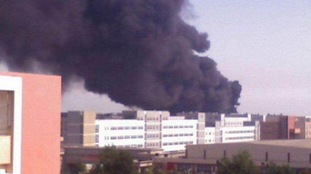 Kraftig brann hos Foxconn