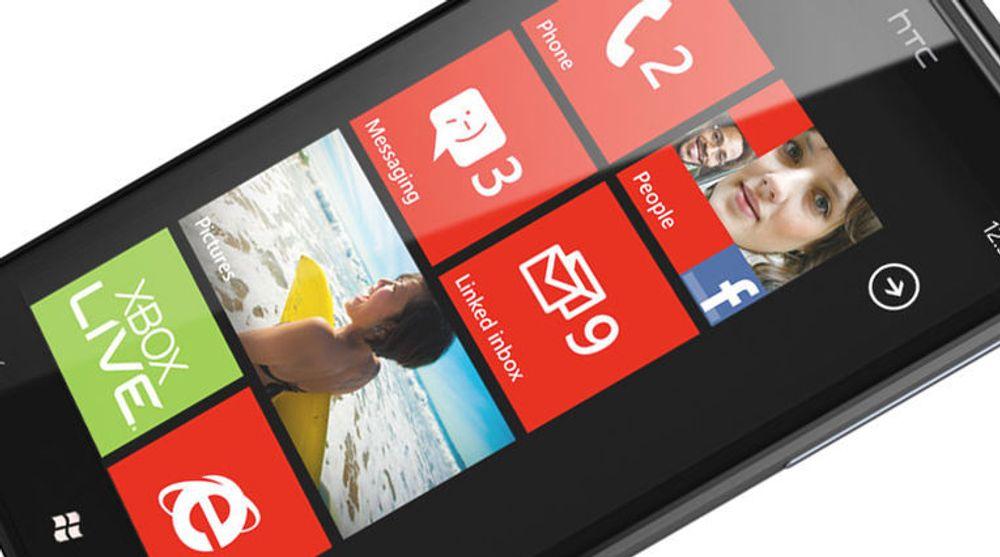 Windows Phone, her på HTCs Titan-modell.
