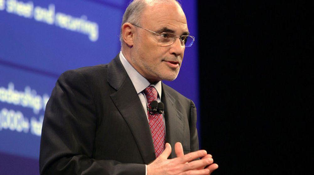 Kvitter seg med store deler av webOS-staben: HPs konsernsjef Leo Apotheker.