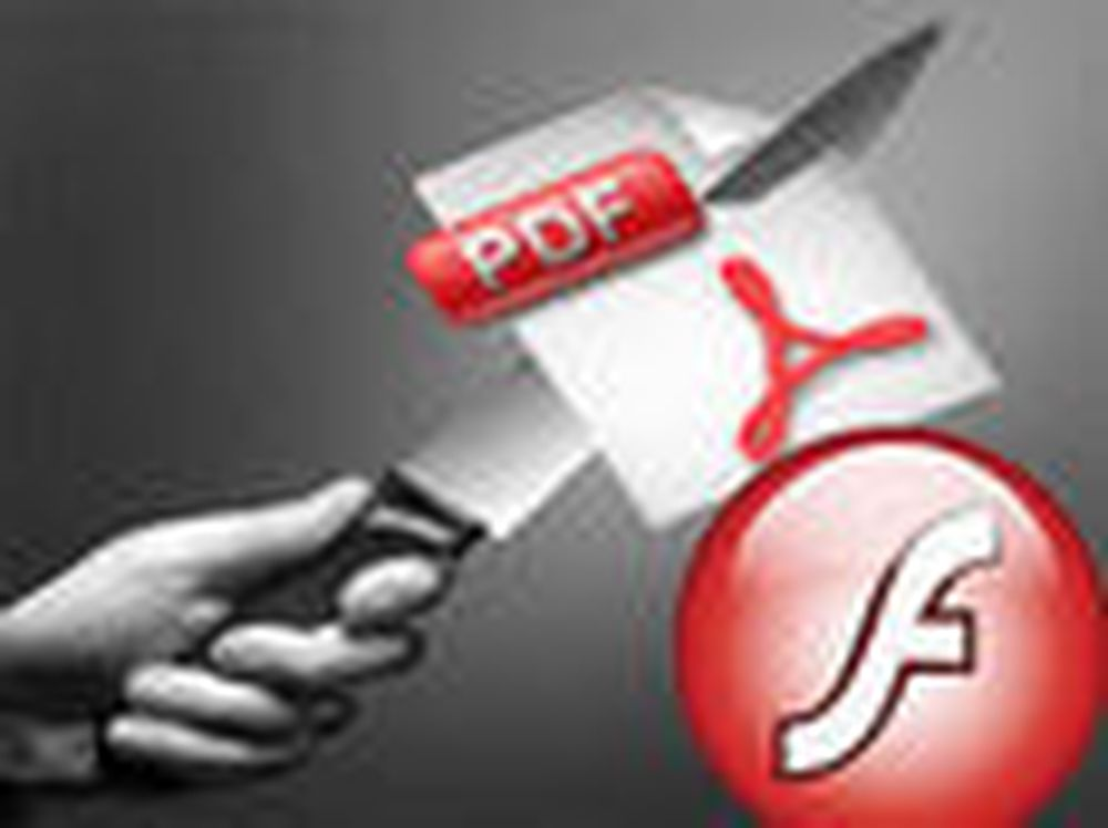 Angriper Flash med PDF-dokumenter