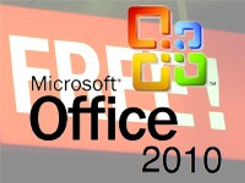 Bekrefter gratis Office 2010 over web