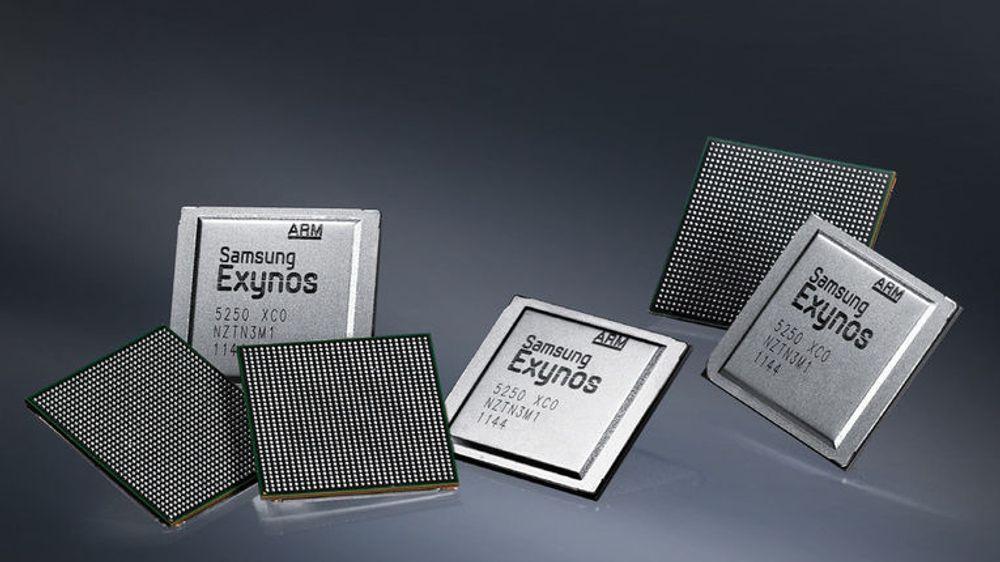 Samsungs Exynos 5250 er utstyrt med to av ARMs Cortex-A15-kjerner, klokket til 2 GHz.