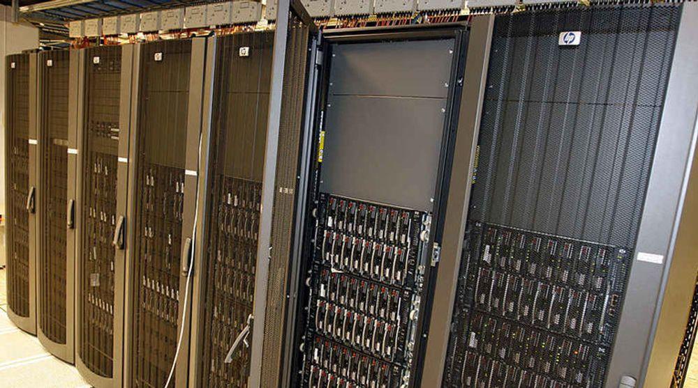 HP-servere dominerer fortsatt i Norden. Her fra Skattedirektoratets Citrix-farm.