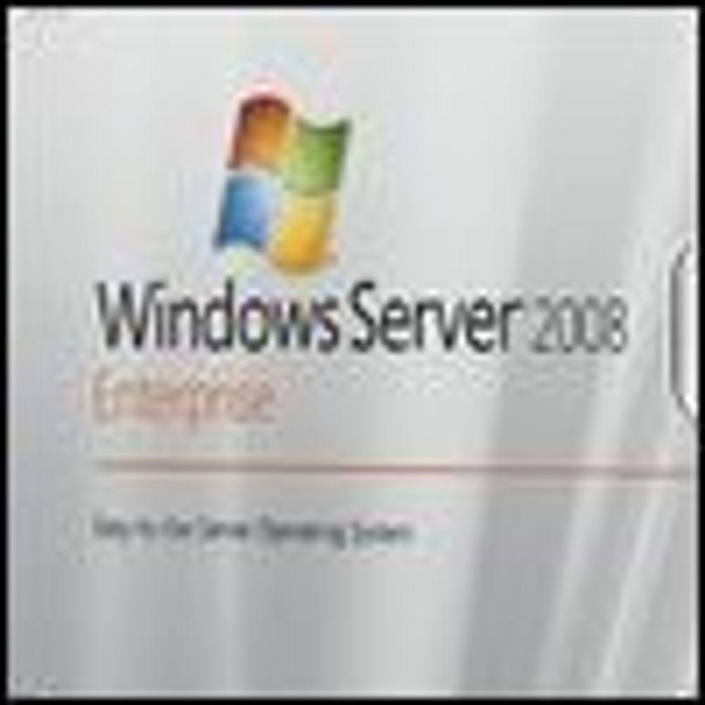 Også Windows Server 2008 blir forsinket