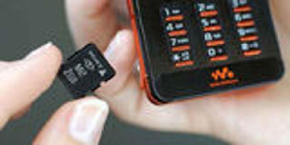 Sony med romsligere minnekort for mobiler