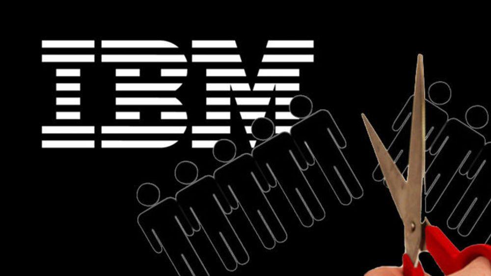 Stadig færre jobber for IBM i hjemlandet USA, der 1200 ble oppsagt denne uken.