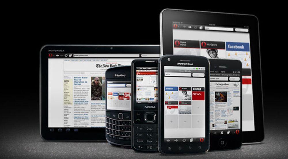 Opera Software tilbyr nettlesere til de fleste mobiltelefoner og nettbrett.