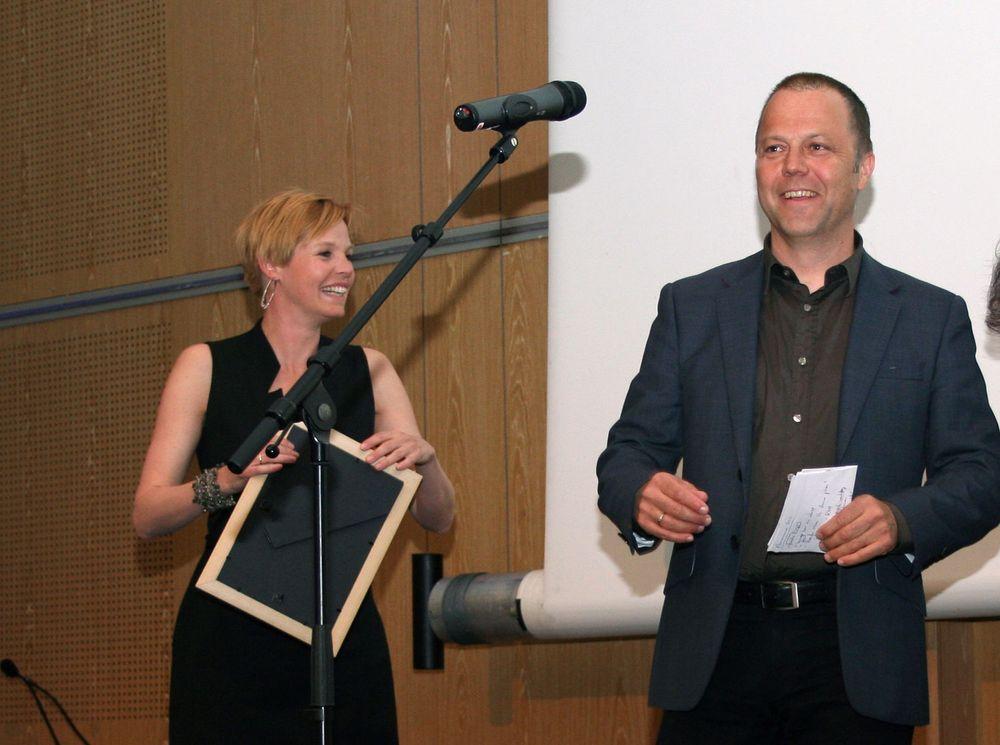 Rådmann Marius Trana tok i mot eKommuneprisen 2011 på vegne av Sørum kommune.